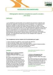 bibliographie selective competences psycho