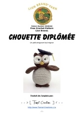 Fichier PDF chouette diplomee crochet