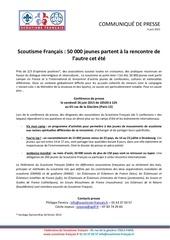conference de presse scoutisme francais