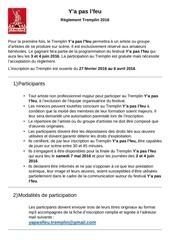 tremplin 2016 reglement