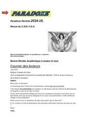 paradoxe 2014 15