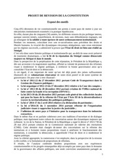 projet constitution