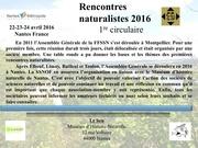 rencontres naturalistes 2016 participation