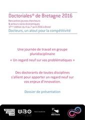 doctoriales de bretagne 2016 un regard neuf presentation