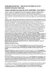 gerard filoche analye detaillee du projet de loi el khomri