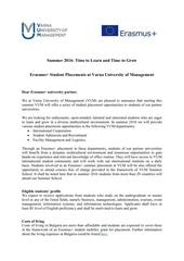 Fichier PDF student placement opportunities at vum