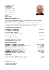 cv christophe rosse court