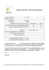 fiche coope rateur