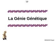 Fichier PDF genie genetique