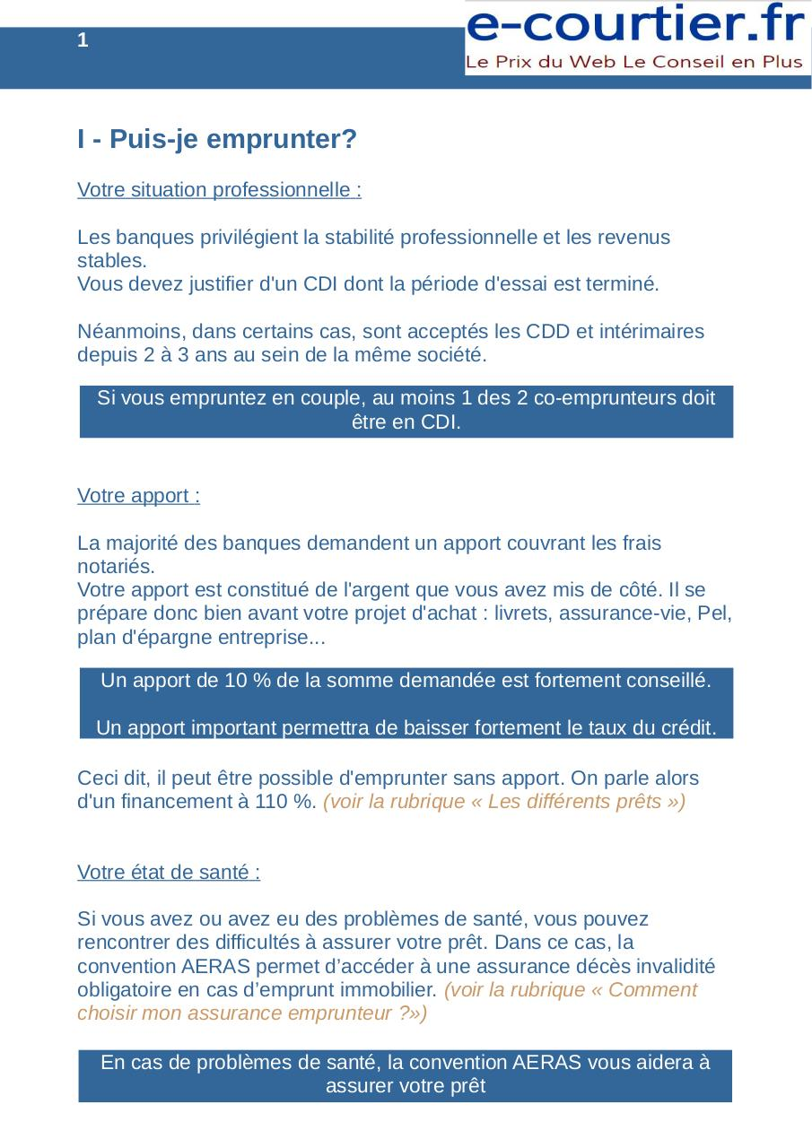 Guide Credit Immobilier Fichier Pdf