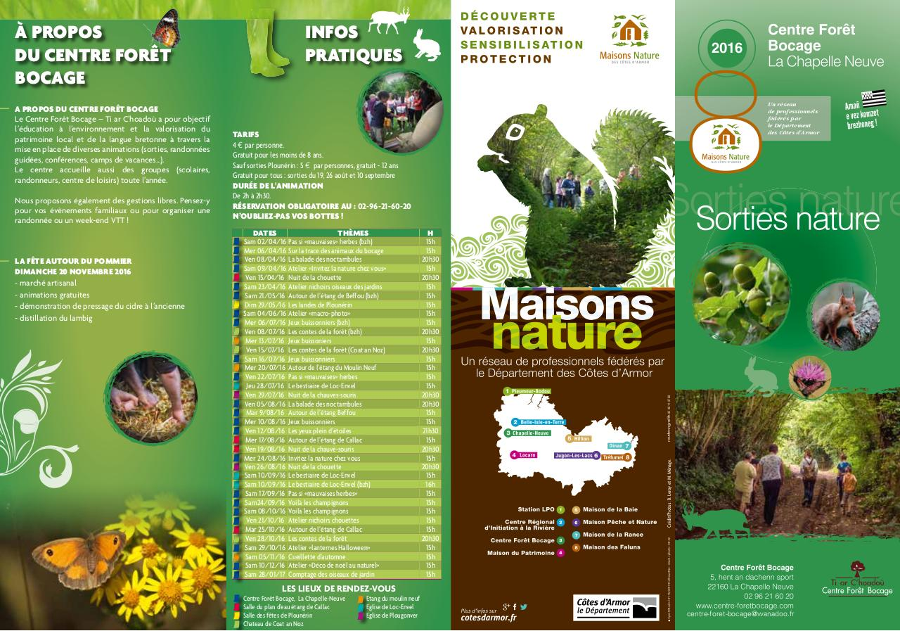 sorties nature 2016 Centre foret bocage.pdf - page 1/2