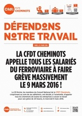 tract cfdt appel greve 9 mars couleur