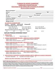 formulaire 2016 inscription pour jeune dEpliant