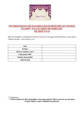 Fichier PDF formulaire fidelite