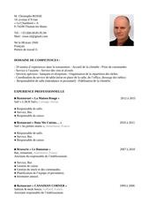 Fichier PDF cv christophe rosse