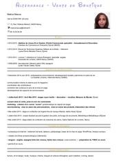 Fichier PDF cv disney