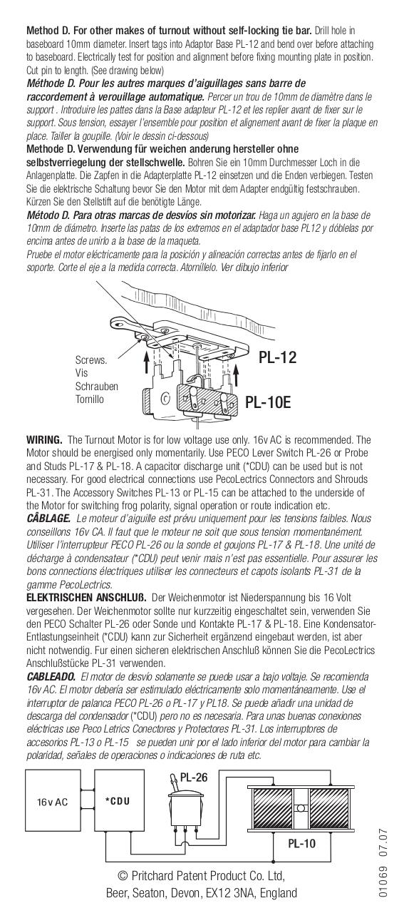 peco pl 10 instructions