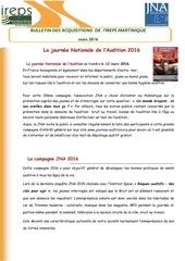 bulletin des acquisitions jna2016