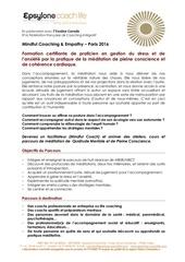formulaire d inscription mindful coach 2016