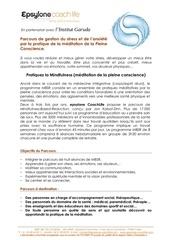 formulaire d inscription parcours mindfulness 2016
