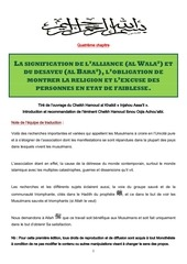 la signification de l alliance et le desaveu