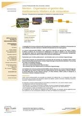licence pro gestion des etablissements hoteliers luxe