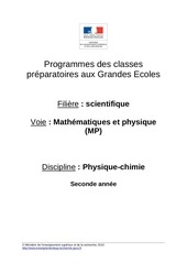 mp physique chimie 287426