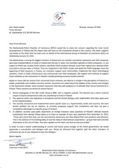 npcc letter in english to the polish government