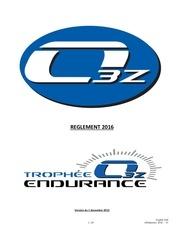 reglement endurance o3z 2016