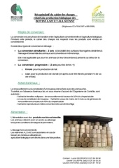 recapitulatif cahier charges bovin 2