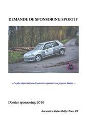 sponsoring rallye dylan et solena 2016