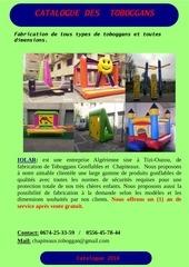 Fichier PDF toboggan catalogue 2016
