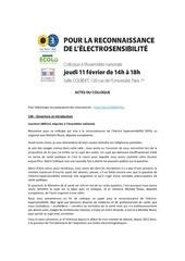 actes du colloque ehs pdf