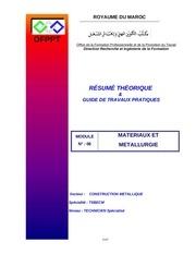 m10 materiaux et metallurgie