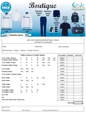 formulaire commande boutique 2016