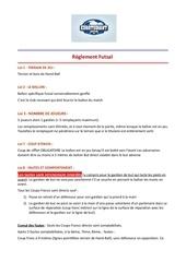 reglement futsal eurotudiant