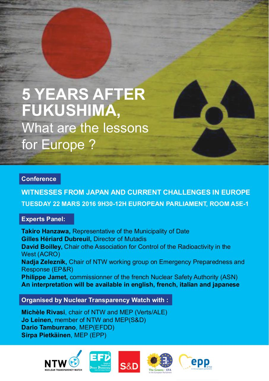 Aperçu du document 5 years after Fukushima Conference Poster.pdf - page 1/1