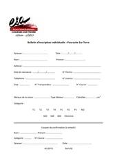 bulletin dinscription individuelle poursuite sur terre