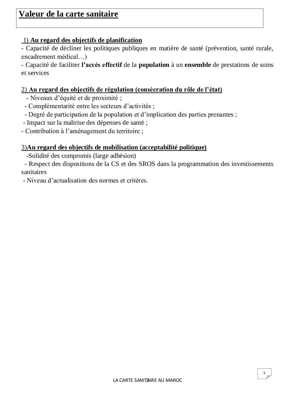 Avènement De La Carte Sanitaire Au Maroc Par Youness Carte
