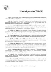 historique sessions cnegu