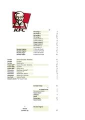 Fichier PDF kfc calories