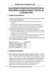 Fichier PDF les principales dispositions de la loi de finance 2016 1