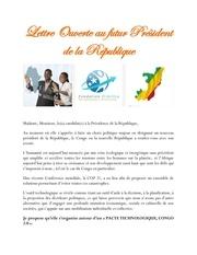 lettre ouverte au futur president de la republique