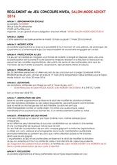 reglement jeu concours nivea salon mode adickt 2016 2