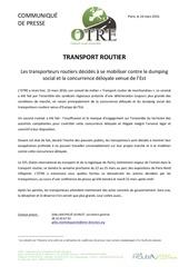cp transporteurs routiers se mobilisent