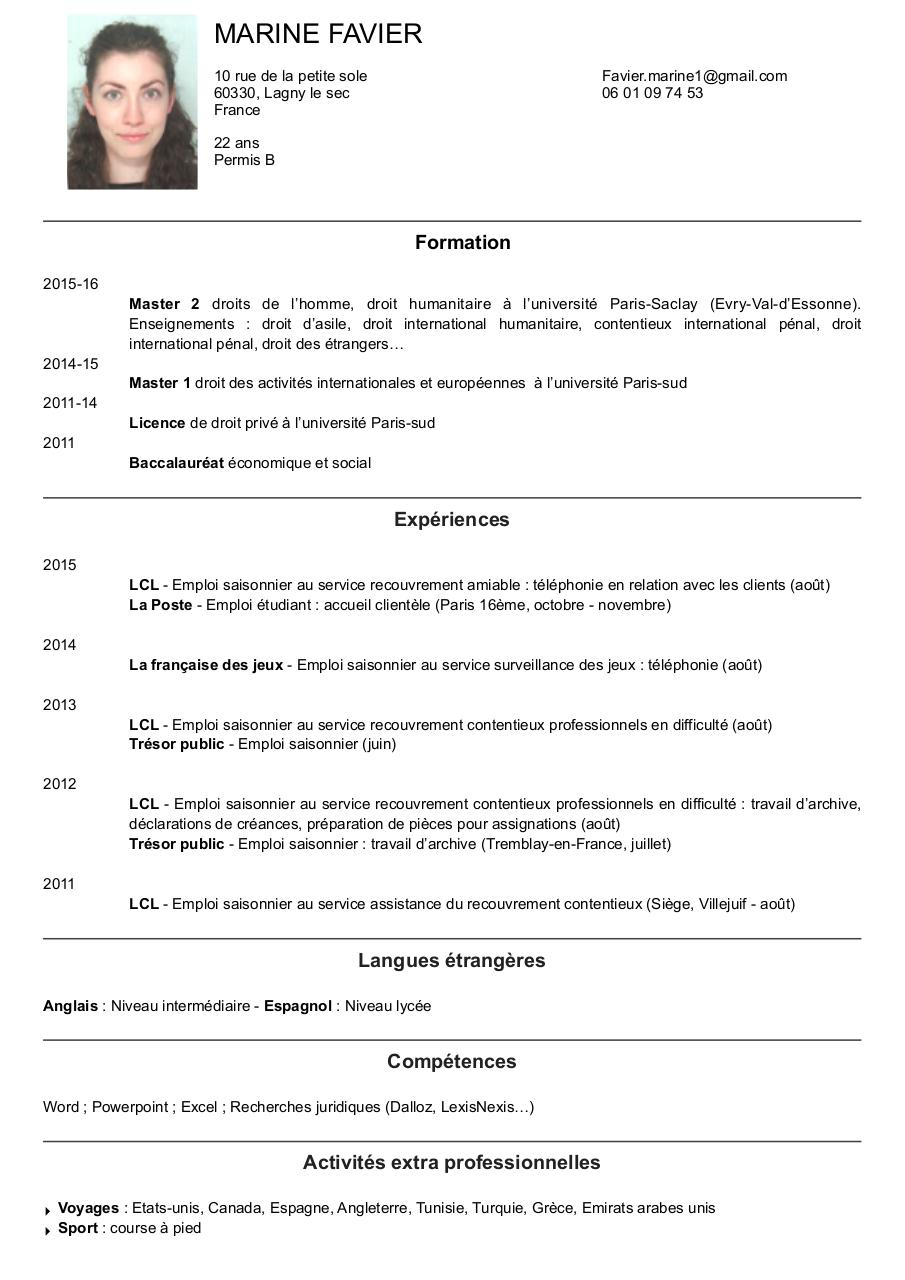 cv nov 2015 stage  u00e0 jour - cv 2016 f u00e9vrier pdf pdf