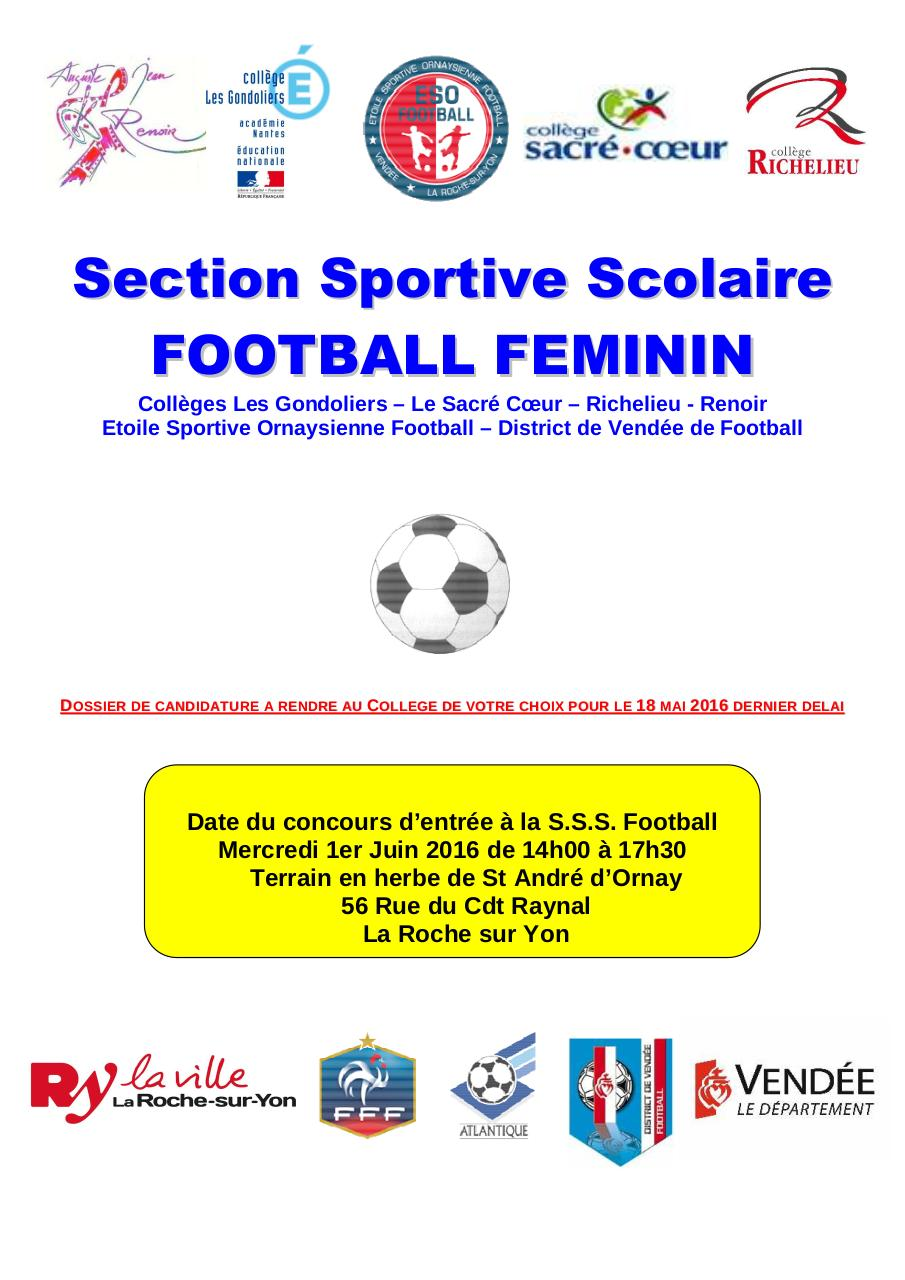 Dossier de candidature SSS Foot GROUPE FEMININ  2016-2017.pdf - page 1/12