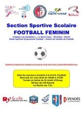 dossier de candidature sss foot groupe feminin 2016 2017