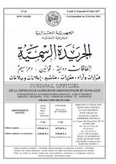 jora decret executif n 16 66