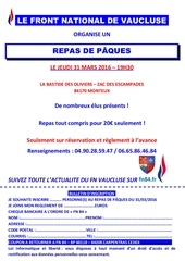 diner paques 31 mars